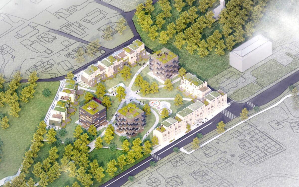 Base og Ineo skal utvikle 250 boliger på Rådhusmarka